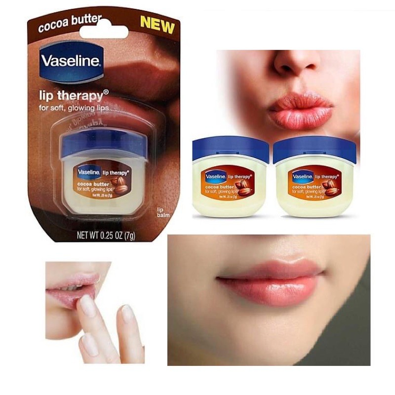 Son Dưỡng Môi Vaseline Lip Therapy Rosy Lips - COCOA BUTTER 7 g Son dưỡng môi Vaseline Cocoa Butter Lip Therapy 7g