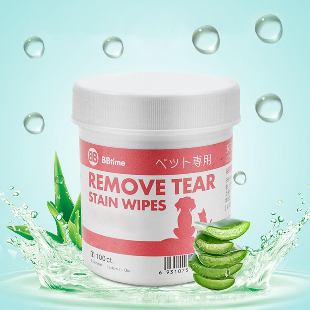 Cash on delivery Ready 100pcs Pet Aloe Moisturizing Wipes Dog Eyes Tear Stain Cleaning Paper Towel Muswanna