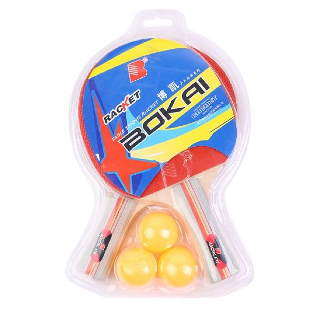 Combo 2 vợt bóng bàn kèm 3 bóng BoKai