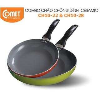 [Mã HLCOMET12 giảm 15% tối đa 50K đơn 100K] Combo chảo chống dính Ceramic COMET - CH10 - 22&28 thumbnail