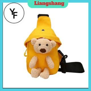 Túi đeo chéo🍁FREESHIP🍁Túi đeo chéo hình gấu nhồi bông phong cách Hàn Quốc