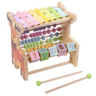 Havashop Educational Kid Computing Rack Musical Wooden Instrument Toy Xylophone Piano