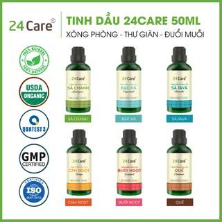 Tinh dầu 24Care nguyên chất 50ml – xông thơm phòng, khử mùi, xua đuổi côn trùng