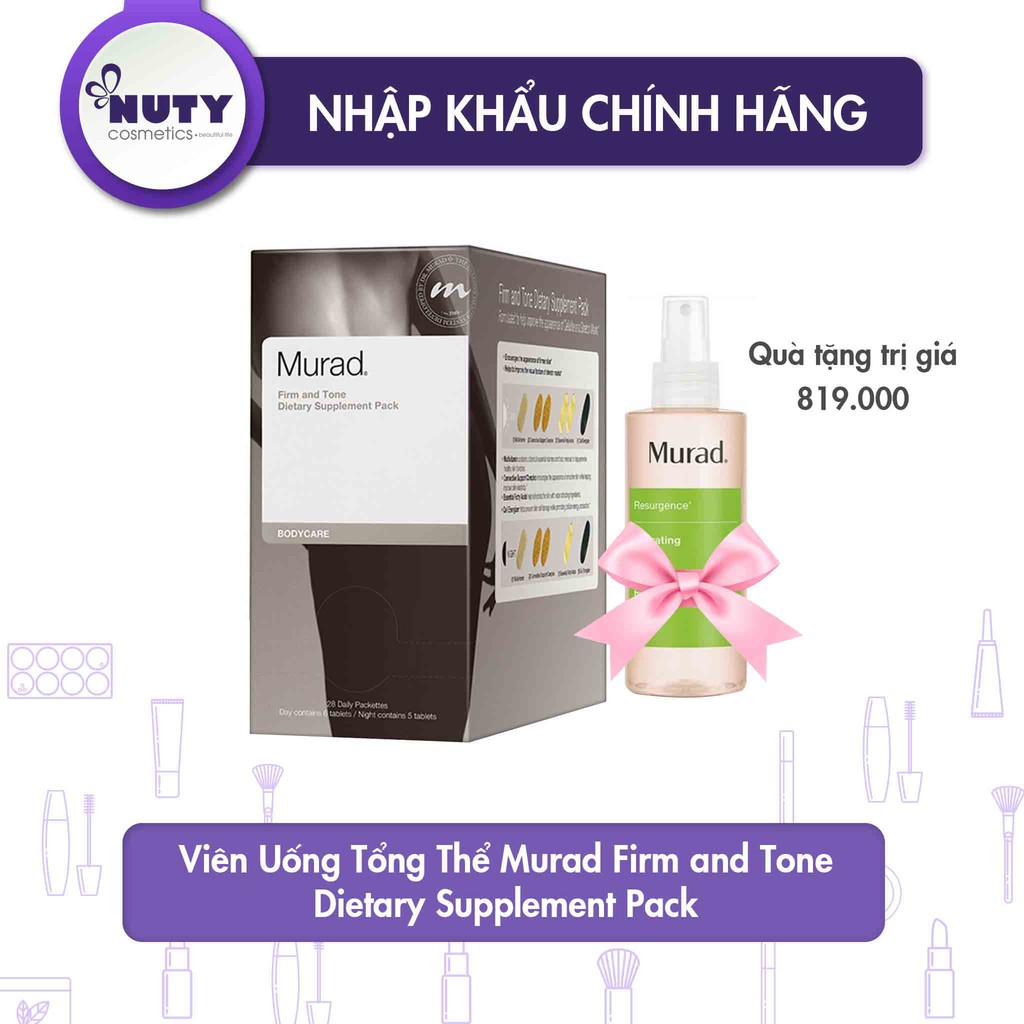 Viên Uống Tổng Thể Murad Firm and Tone Dietary Supplement Pack - 14186836 , 2314871021 , 322_2314871021 , 3800000 , Vien-Uong-Tong-The-Murad-Firm-and-Tone-Dietary-Supplement-Pack-322_2314871021 , shopee.vn , Viên Uống Tổng Thể Murad Firm and Tone Dietary Supplement Pack