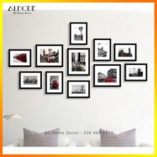 Yêu Thích[FREE in ảnh&đinh] Bộ 11 khung ảnh đẹp trang trí nhà giá rẻ (S11)