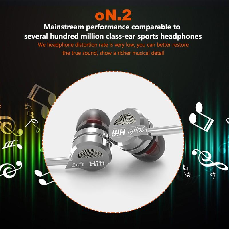 Tai nghe nhét tai hifi QKZ DM9 giảm tiếng ồn phong cách thể thao
