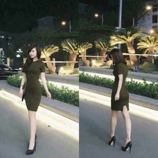 Đầm thun gân