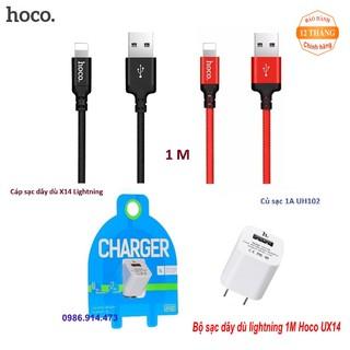 [RẺ VÔ ĐỊCH] Bộ củ cáp sạc lightning 1M Hoco UHX14 cao cấp cho IPhone
