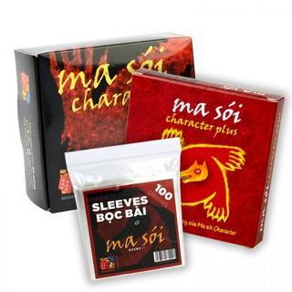 Bài Ma Sói Character – Combo 2 bộ Characters + bản mở rộng Characters Plus (Việt hóa) Cao Cấp + Sleeve Ma sói – EtoysVN