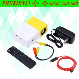 Máy chiếu mini LCD LED Projector YG-300 tặng kèm Cáp chuyển tín hiệu Type-C ra HDMI dài 2m cho Android thumbnail