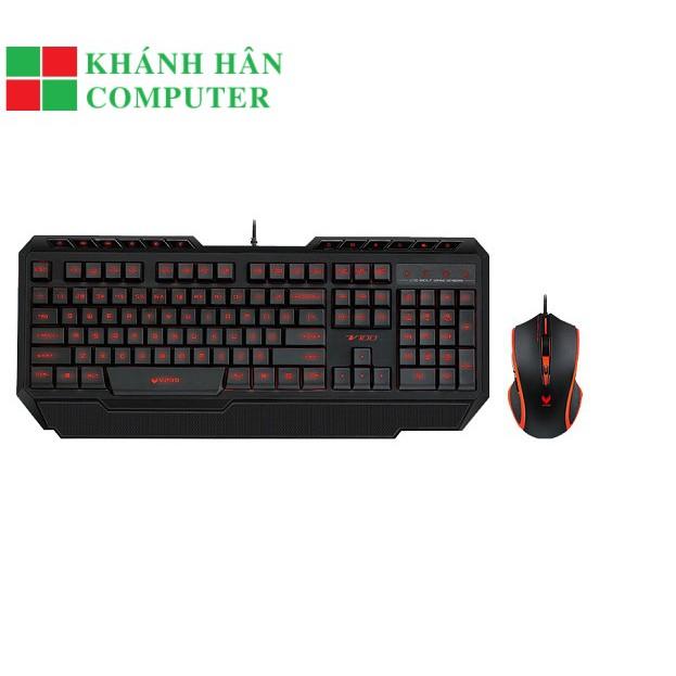 Bộ Bàn Phím Và Chuột Gaming Rapoo V100 Đen - Bảo hành chính hãng 12 tháng