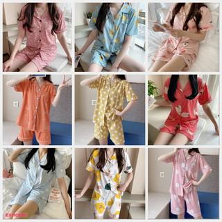 Pijama mặc ở nhà, Bộ Ngủ Nữ cotton ngắn tay nhiều màu CCCP06