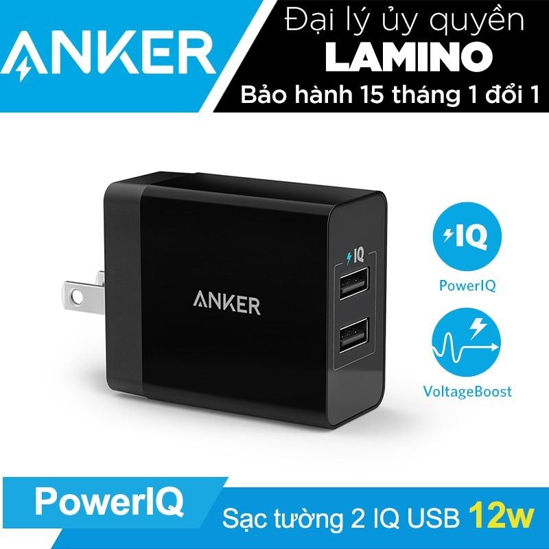 Sạc ANKER PowerPort 2 Lite 2 cổng PowerIQ 12w - Hãng phân phối chính thức - 3544744 , 1080594753 , 322_1080594753 , 275000 , Sac-ANKER-PowerPort-2-Lite-2-cong-PowerIQ-12w-Hang-phan-phoi-chinh-thuc-322_1080594753 , shopee.vn , Sạc ANKER PowerPort 2 Lite 2 cổng PowerIQ 12w - Hãng phân phối chính thức