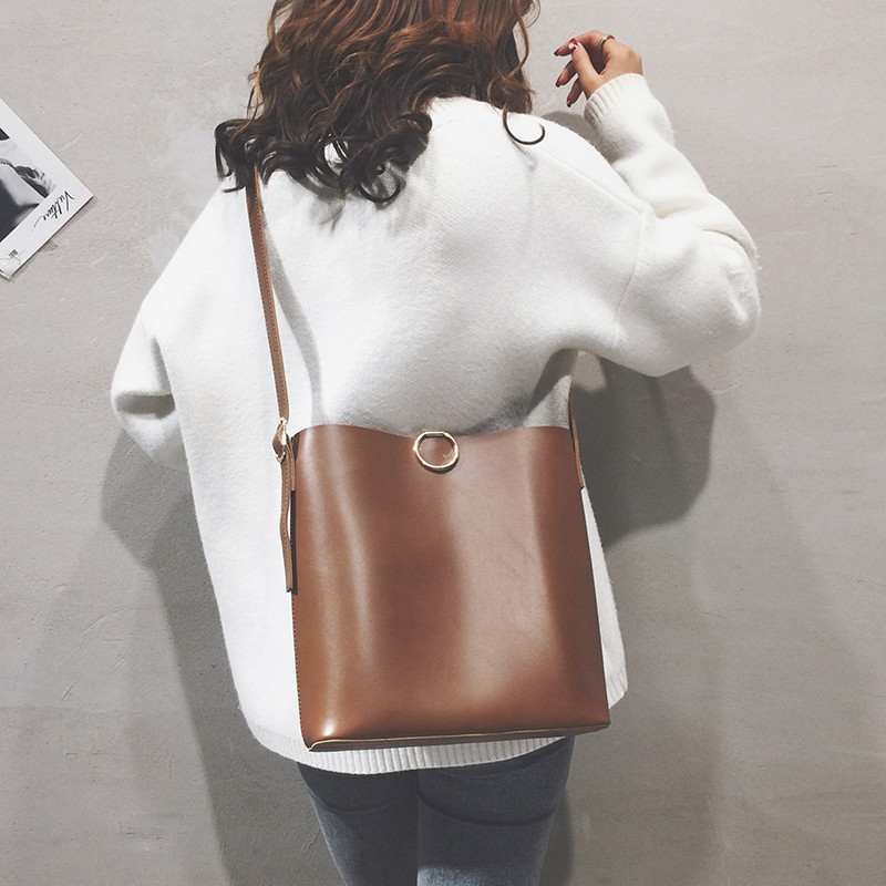 Solid color big bag female 2019 new trend personality wild c