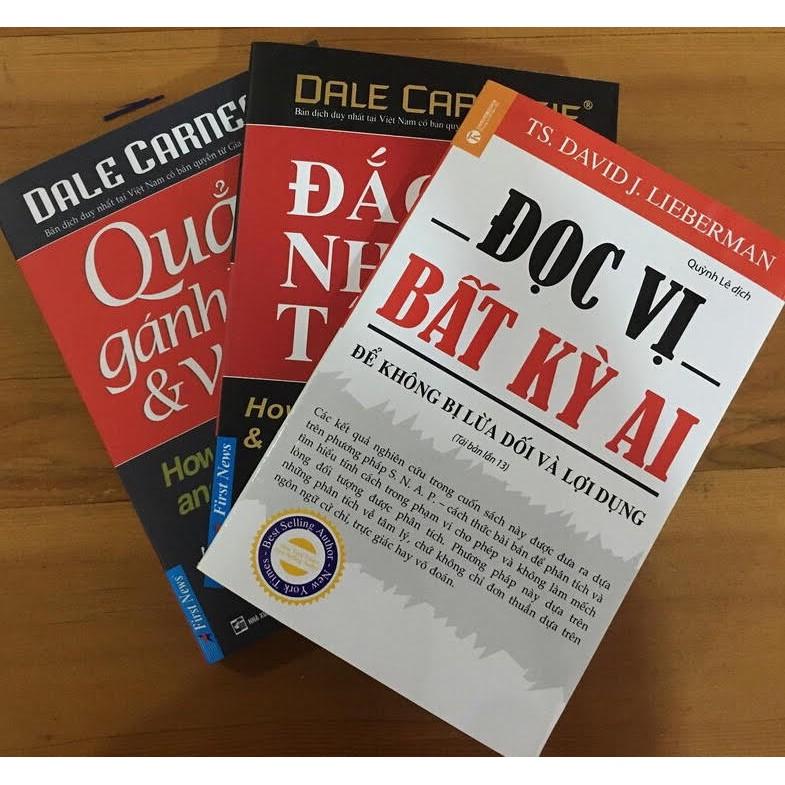 sách- Combo 3 cuốn đắc nhân tâm, đọc vị bất kì ai, quẳng gánh lo đi mà vui sống