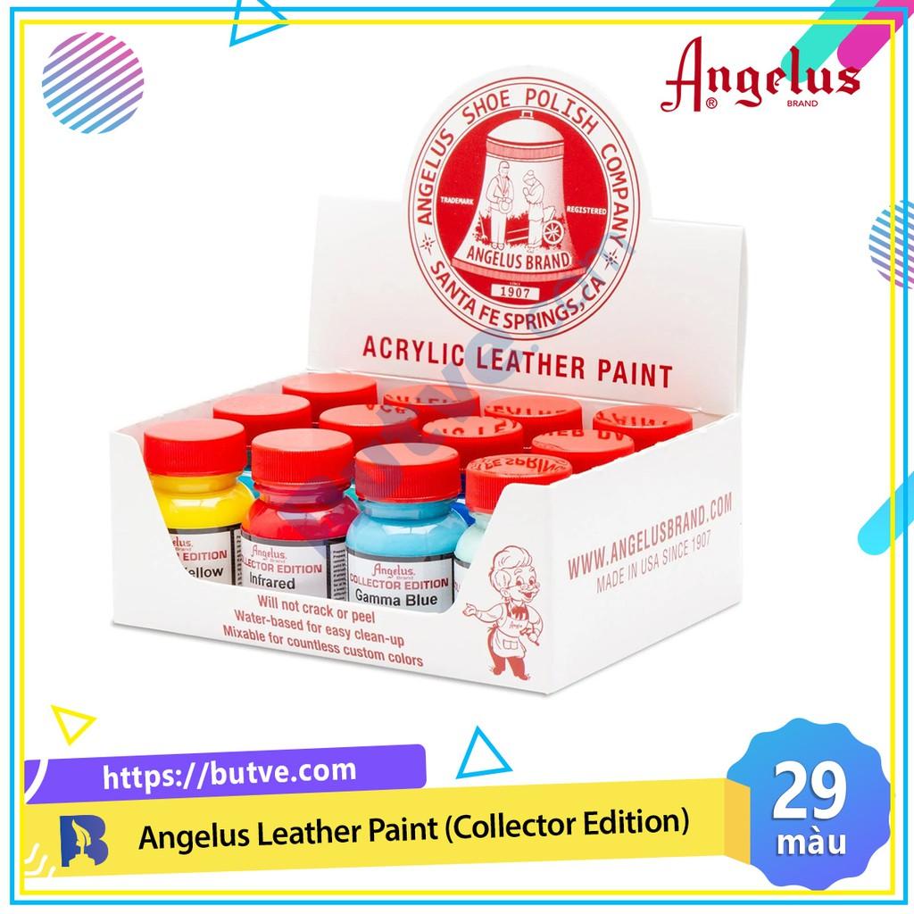 [Bảng màu 1] Màu acrylic vẽ lên da, vải Angelus Leather Paint (Collector Edition) – 29.5ml (1Oz)