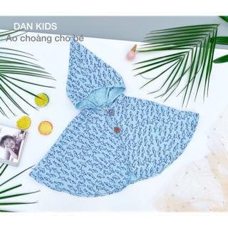 Áo choàng thiết kế cho bé – Hoạ tiết baby shark