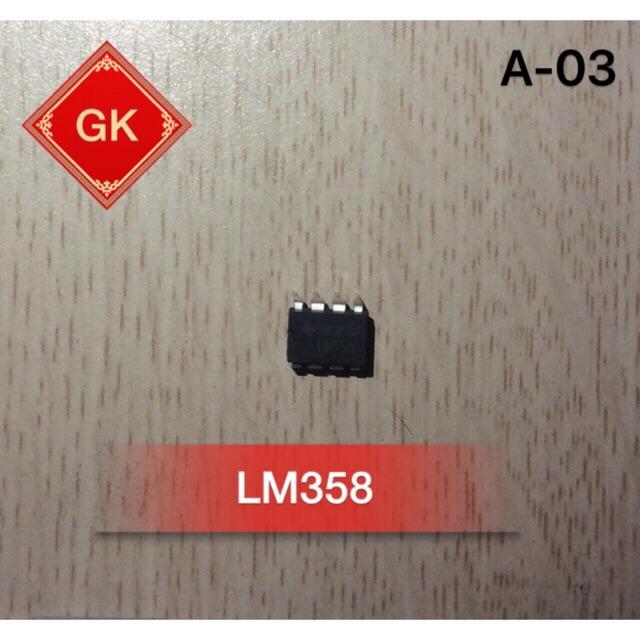 LM358 - ic khuếch đại thuật toán.