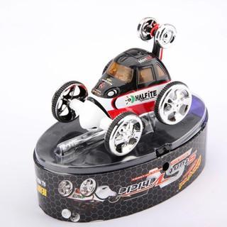 Mini Led RC 360° Wheelie Remote Radio Control Twister Rechargeable Stunt Car Toy