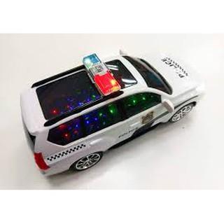 Xe ô tô cảnh sát có đèn nhạc (kèm pin)