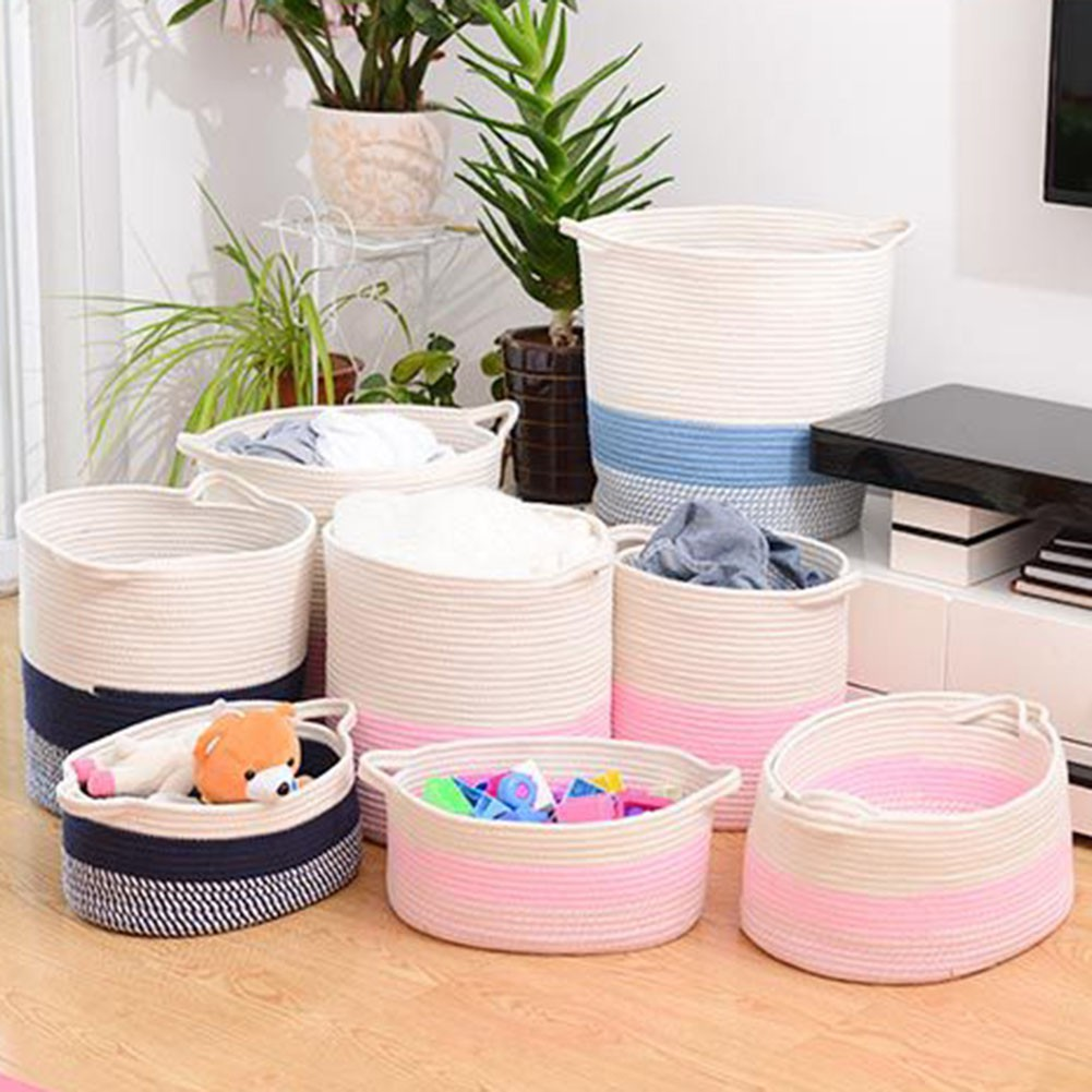 ↨COD↨Folding Laun Basket es Underwear Sundries Organizer Barrel