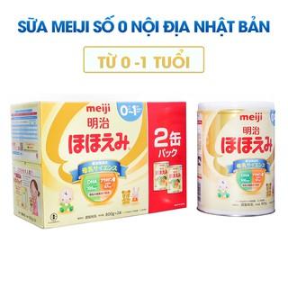 Sữa Meiji Nội Địa Nhật lon số 0 và số 9 800g thumbnail