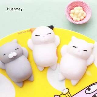 ★Hu 1Pc Super Soft Slow Rising Squishy Squeeze Cute Cat Smile Face Toy Kid Gift