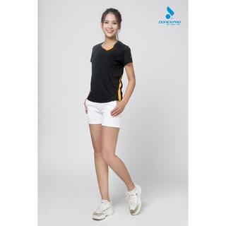 Áo thun thể thao nữ DONEXPRO 3396 màu đen thumbnail