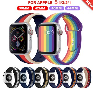 Strap For Apple Watch Band 42mm 38mm 40mm 44mm Bracelet Silicone Watchband Series 6 SE 5 4 3 2 1