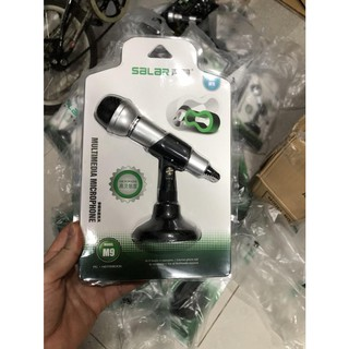 [Mã ELFLASH5 giảm 20K đơn 50K] Microphone cho máy tính Microphone Salar M9