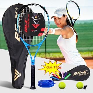 Vợt tennis Battleship dành cho người mới bắt đầu Bộ vợt Carbon chính hãng Sợi carbon Thực hành chuyên nghiệp Chung nam v thumbnail