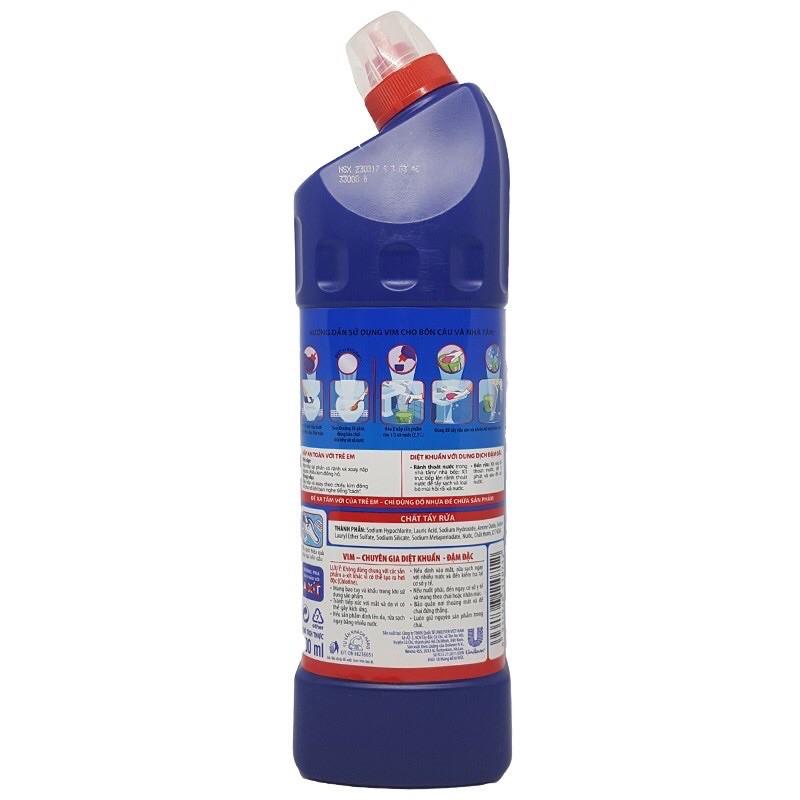 [VIM - Mua 1 tặng 1] Combo 2 chai Nước Tẩy Bồn Cầu Vim Diệt Khuẩn 900ml + Tặng 1 Nước rửa chén thiên nhiên 550gr
