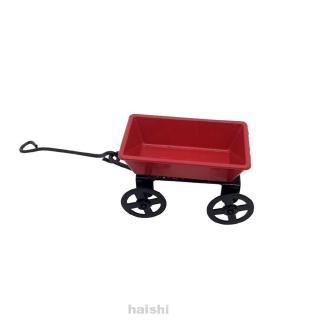 1:12 Red Home Decorative Bedroom Garden Furniture Iron Ornament Doll House Mini Pulling Cart
