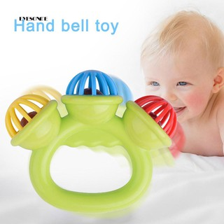 ♕Kids Baby Handbell Jingle Shaking Rattle Musical Instrument Educational Toy