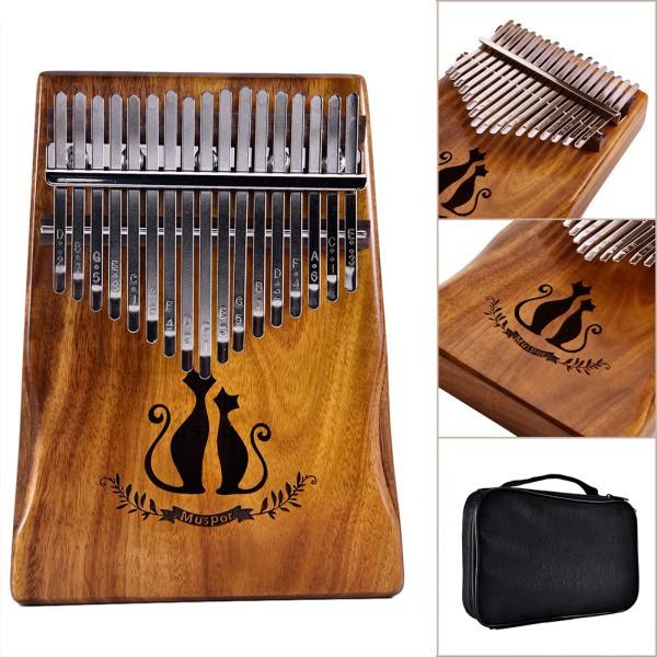 17 Keys Kalimba African Solid Mahogany Wood Thumb Piano Finger Percussion