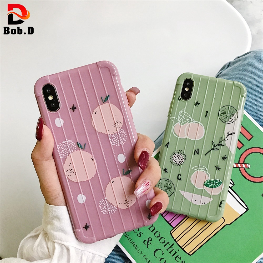 For iPhone  6/6S 7/8 Plus Phone   X/XS XR XS MAX Shell  Luggage TPU Soft  Covers Case  Cute