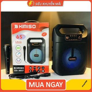 Loa Bluetooth Hát Karaoke KIMISO QS 3607 Tặng Kèm Mic Hát hàng cao cấp bảo hành lỗi 1 đổi 1 thumbnail