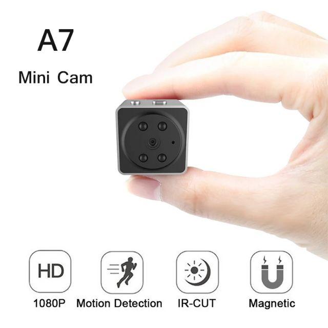 Camera minin siêu nhỏ nam châm FullHD 1080P A7- đối thủ SQ11/SQ12