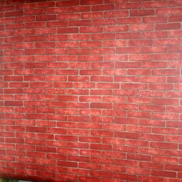 Giấy dán tường gạch đỏ khổ 60cm - 3011922 , 972043683 , 322_972043683 , 21000 , Giay-dan-tuong-gach-do-kho-60cm-322_972043683 , shopee.vn , Giấy dán tường gạch đỏ khổ 60cm
