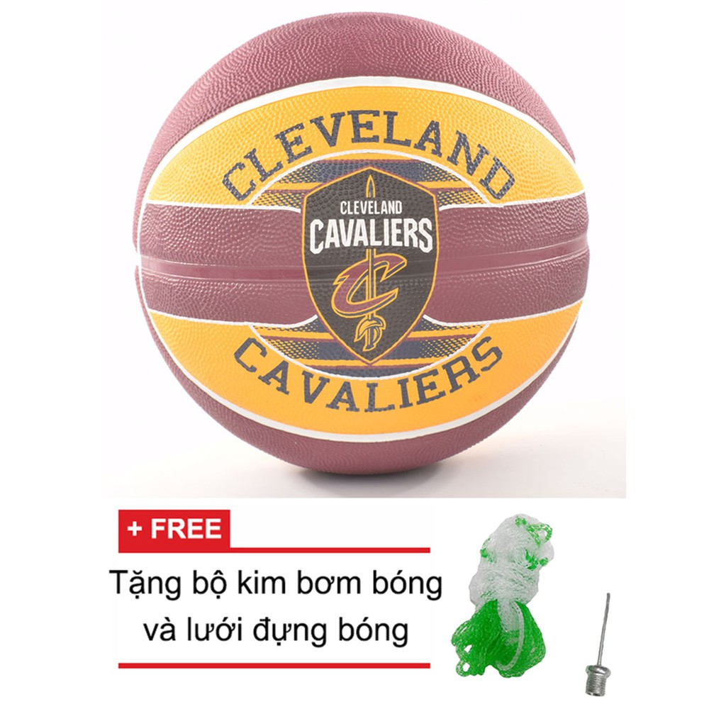 Bóng rổ Spalding NBA Team Cleveland Cavaliers Outdoor size 7