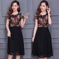 1161785276 - đầm hoa xèo đen