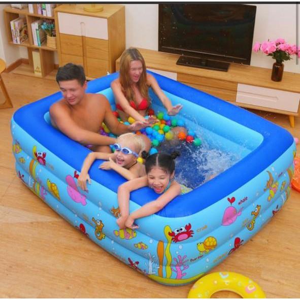 Bể bơi phao Summer Baby 180*140*60CM (tặng kèm bơm điện)