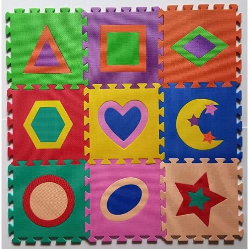 Bộ 10 tấm Thảm xốp lót sàn cho bé hình học (30x30cm)