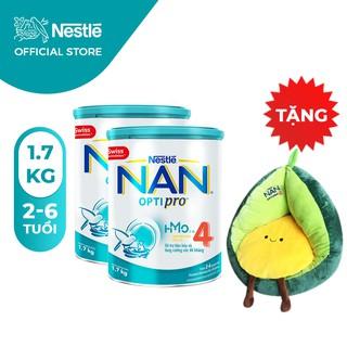 Combo 2 Lon Sữa Bột Nestle NAN Optipro 4 1,7kg/lon [Tặng 1 Ghế Sofa Trái Bơ]
