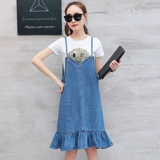 váy yếm jeans thời trang hàn quốc