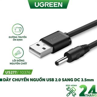 Dây nguồn 1 chiều USB 2.0 sang DC 3.5mm đầu đực dài 1m UGREEN US277 thumbnail