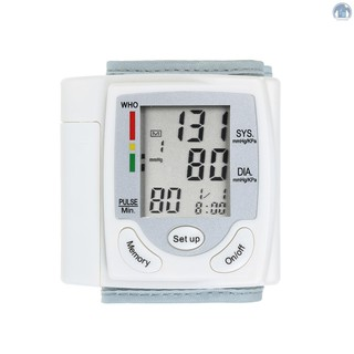 【🌈Lightliving】LCD Display Blood Pressure Monitor Wrist Pulse Meter Automatic Digital Pulsometer Sphygmomanometer Family Diagnostic-tool