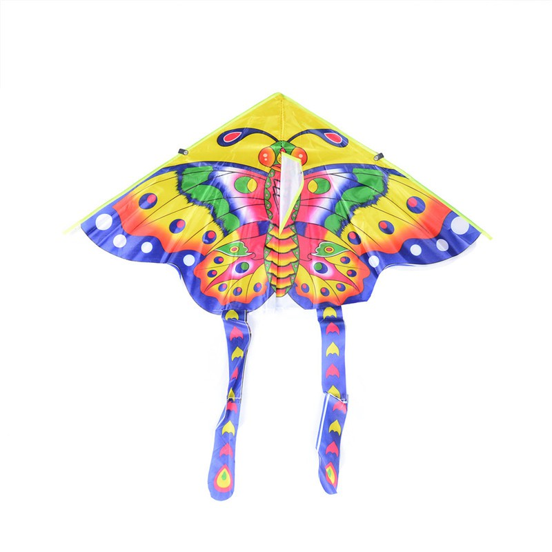 adore 1PC Butterfly Printed Long Tail Kite Children Kids Outdoor Garden Fun Toys craving