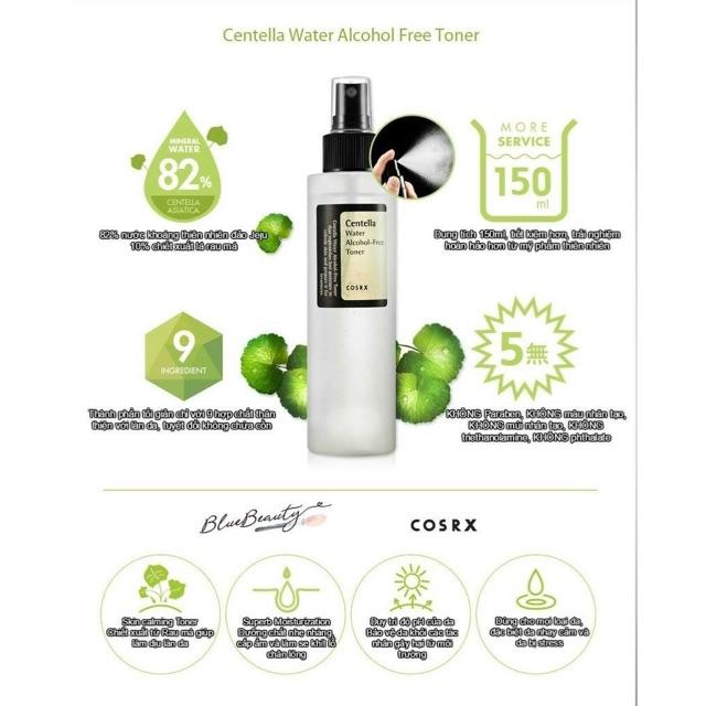 Nước hoa hồng không cồn Cosrx Centella Alcohol-Free Toner