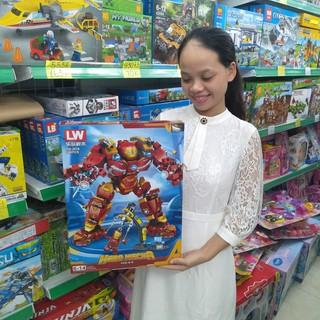 Bộ Lego Xếp Hình Ninjago Iron Man ( Người Sắt ) 2018 cực ngầu. Gồm 568 chi tiết. Lego Ninjago Lắp Ráp Đồ Chơi Cho Bé.